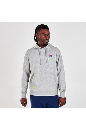 Nike Men's Sportswear Essentials+ Pullover Hoodie in Grey/ Size Small Cotton/Polyester/Fleece