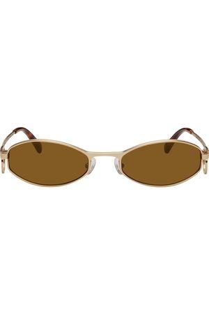 Marine Serre Silver Vuarnet Edition Swirl-Frame Oval Sunglasses