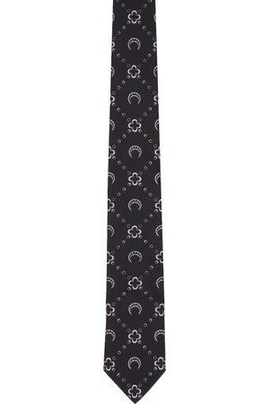 Marine Serre Black & Purple Branded Pattern Tie