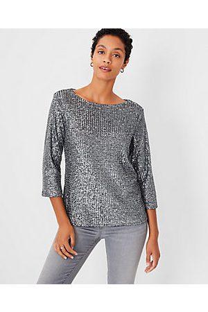 ANN TAYLOR Women Long sleeves - Sequin Long Sleeve Top