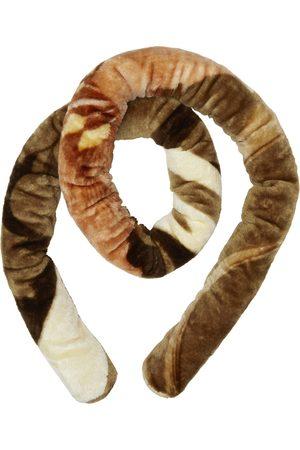 Marine Serre Off-White & Brown Blankets Tubular Scarf