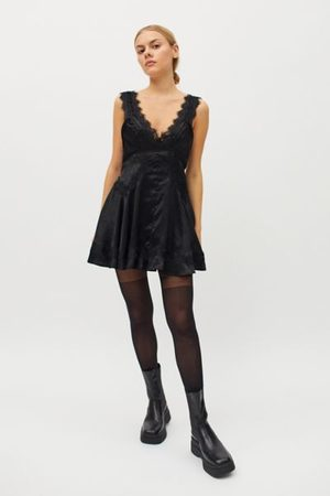 Urban Outfitters UO Tiffany Satin Lace Dress