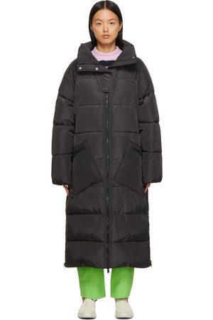 Ganni Black Insulated Long Puffer Coat