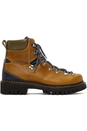 Dsquared2 Tan Hiking Lace-Up Boots