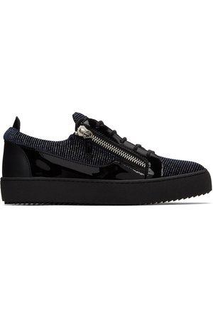 Giuseppe Zanotti Black & Blue Frankie Sneakers