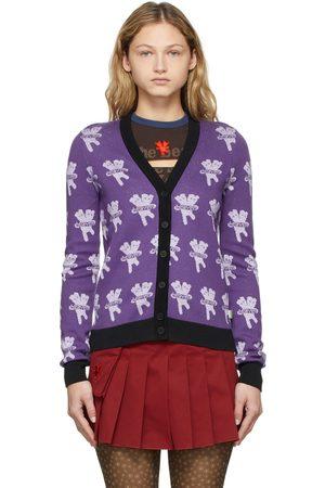 Marc Jacobs Heaven Women Cardigans - Purple Heaven by Marc Jacobs Logo Cardigan