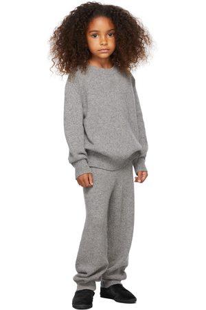 The Row Kids Grey Cashmere Louie Lounge Pants