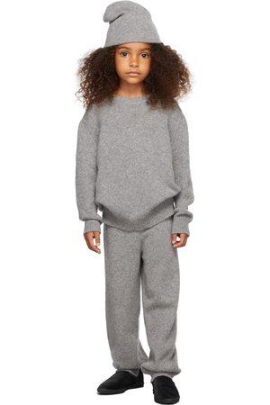 The Row Kids Grey Cashmere Dewey Sweater