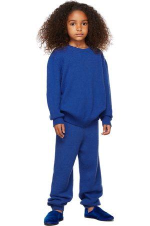 The Row Kids Blue Cashmere Dewey Sweater