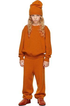The Row Kids Orange Cashmere Dewey Sweater