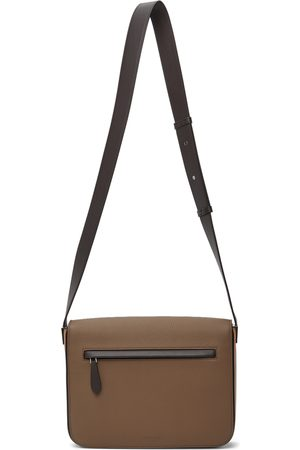Burberry Taupe & Brown Small Olympia Messenger Bag