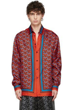 VERSACE Orange Silk Twill Shirt