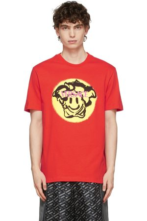 VERSACE Orange Medusa Smile T-Shirt