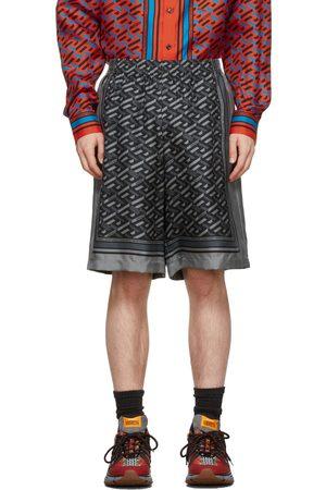 VERSACE Gray Monogram Shorts