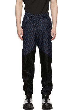 VERSACE Black & Blue Track Pants