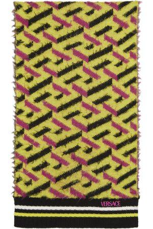VERSACE Jacquard Brushed Wool Scarf