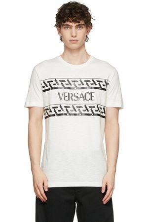 VERSACE White Monogram Script Logo T-Shirt