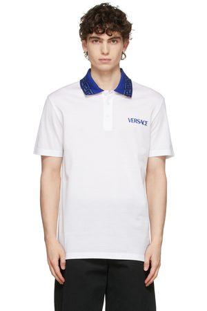 VERSACE White Monogram Collar Polo
