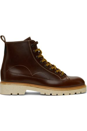 Paul Smith Leather Buhl Lace-Up Boots