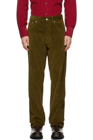 DoppiaA Green Aacero Corduroy Trousers