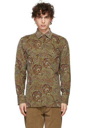 DoppiaA Green Velour 'Aariosto' Shirt