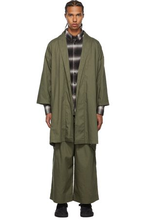 Naked & Famous Denim SSENSE Exclusive Rinsed Oxford Overcoat