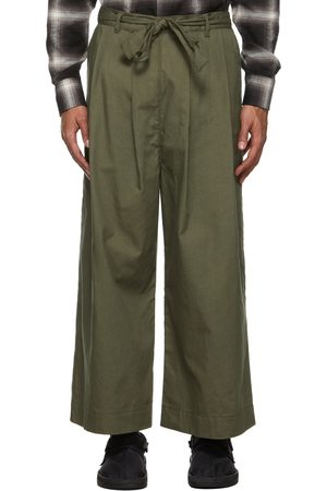 Naked & Famous Denim SSENSE Exclusive Rinsed Oxford Wide Trousers