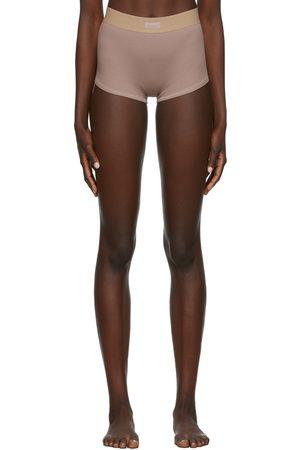 SKIMS Taupe Cotton Rib Boy Shorts