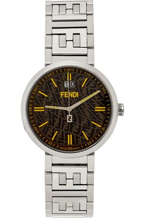 Fendi Silver & Brown Forever Watch
