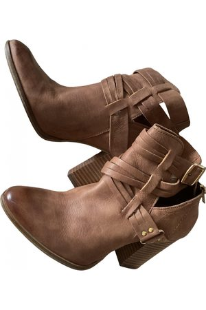 Minelli Leather buckled boots