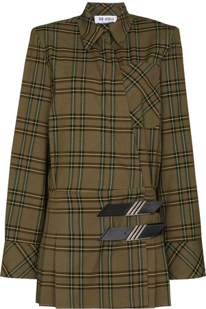 The Attico Women Casual Dresses - Checked mini shirt dress