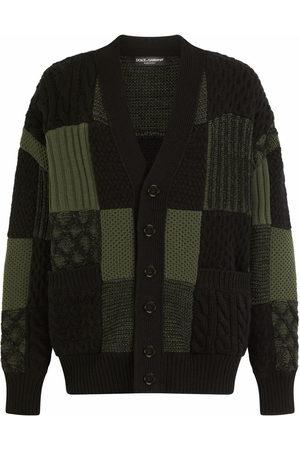 Dolce & Gabbana Patchwork knit wool cardigan