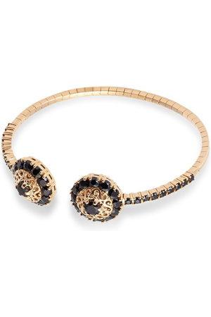 Dolce & Gabbana Women Bracelets - 18kt yellow Family rosette motif black sapphire cuff