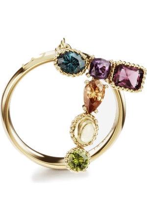 Dolce & Gabbana Women Rings - 18kt yellow Rainbow Alpahabet T ring
