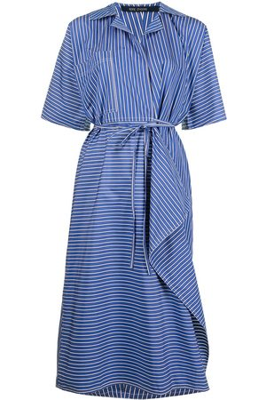 SOFIE D'HOORE Women Casual Dresses - Pinstripe wrapped shirtdress