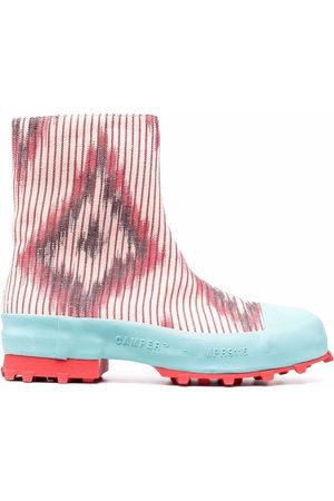 Camper Lab Traktori abstract-print ankle boots - Neutrals