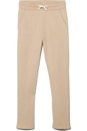 BONPOINT Drawstring-waist cotton track pants - Neutrals