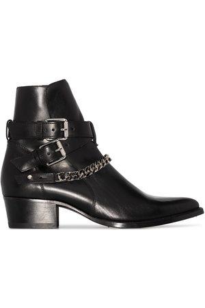 AMIRI Jodhpur Chain leather ankle boots