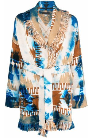 Alanui Women Cardigans - Patterned intarsia-knit cardigan