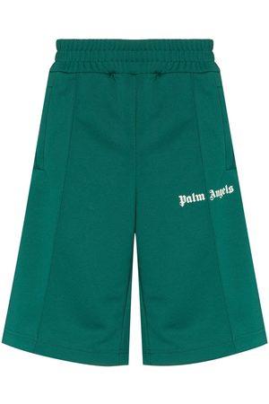 Palm Angels Logo-print track shorts