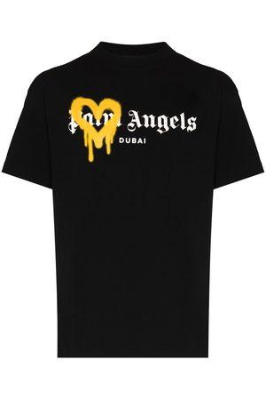 Palm Angels Logo-print sprayed T-shirt