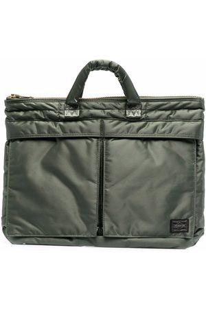 PORTER-YOSHIDA & CO Small Tanker logo patch briefcase