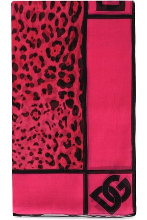 Dolce & Gabbana Women Scarves - Leopard-print silk scarf