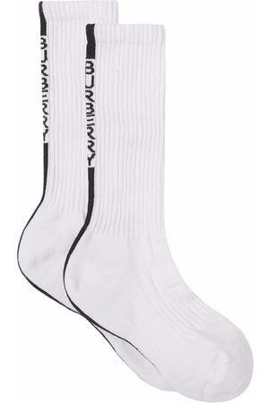 Burberry Logo stripe ribbed socks