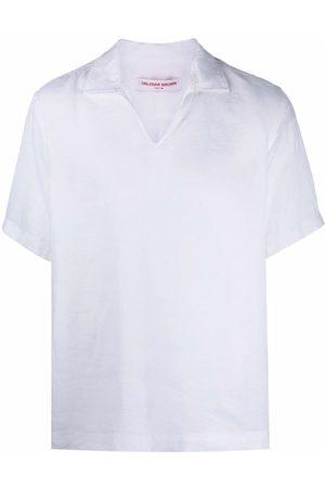 Orlebar Brown T-shirts - Wingtip-collar linen T-shirt