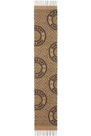 Burberry Scarves - TB-monogram cashmere scarf - Neutrals