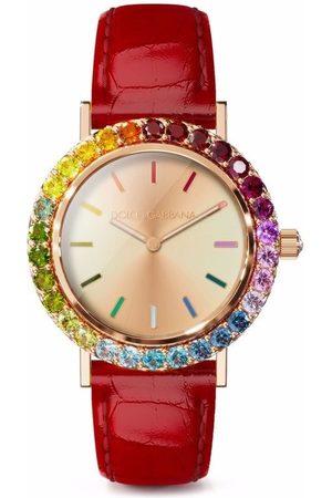 Dolce & Gabbana Iris crystal-embellished 34mm