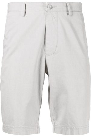 HUGO BOSS Men Bermudas - Four-pocket cotton Bermuda shorts - Neutrals