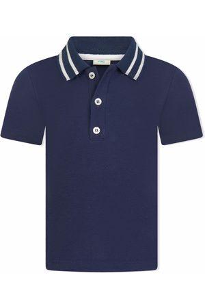 Fendi Polo Shirts - Logo-collar polo shirt