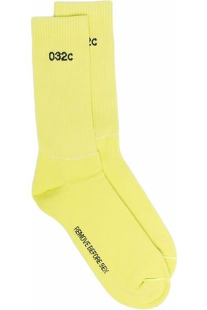 032c Intarsia-knit logo ankle socks